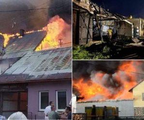 У Польщі вогонь знищив майже все село: фото і відео пожежі