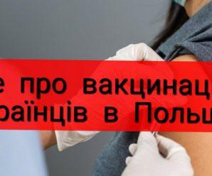 Де та як українці в Польщі можуть вакцинуватися від коронавірусу