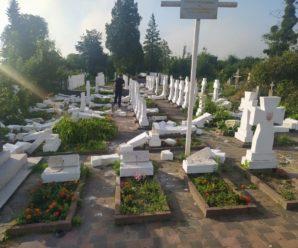 20-річний юнак пошкодив майже 60 хрестів на кладовищі у Стрию