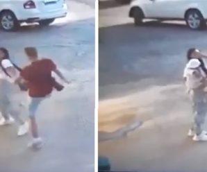 Жінку з дитиною на руках побив заступник голови громадської ради при РДА. Відео