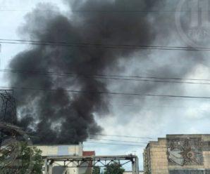 Здіймаються чорні клуби диму: на Бурштинській ТЕС в Івано-Франківській області виникла пожежа (фото)