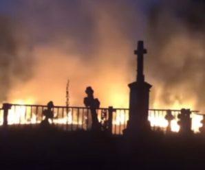 Вогонь вище хрестів: п'ятниця 13-те обернулася жахливою пожежею на українському кладовищі