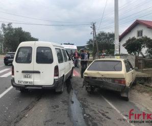 Під Івано-Франківськом зіткнулись Nissan та Таврія: є травмовані (ФОТО)