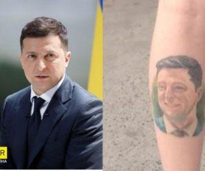 Українець зробив на нозі татуювання з обличчям Зеленського: чоловік став зіркою мережі (фото)