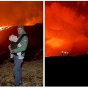 Подружжя з Франківська з 9-місячною дитиною піднялось на діючий вулкан в Ісландії (відео, фото)