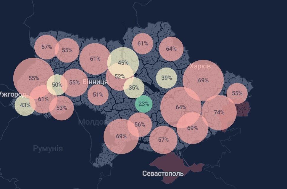 У більшості регіонів уже не вистачає місць для ковідних хворих